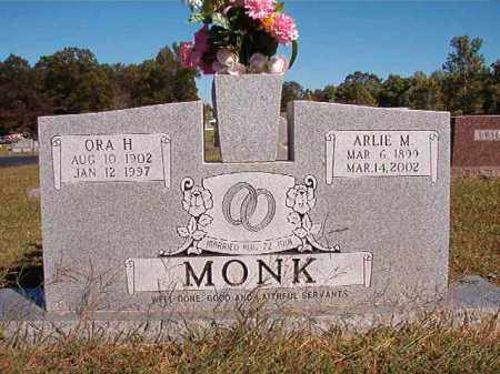 MONK, ORA H - Lonoke County, Arkansas | ORA H MONK - Arkansas Gravestone Photos