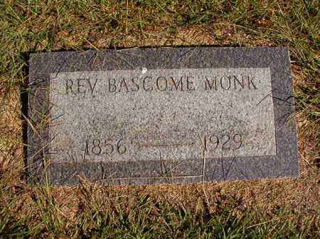 MONK, REV, BASCOME - Lonoke County, Arkansas | BASCOME MONK, REV - Arkansas Gravestone Photos