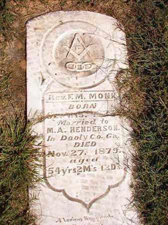 MONK, REV, F M - Lonoke County, Arkansas   F M MONK, REV - Arkansas Gravestone Photos
