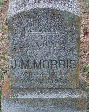 MORRIS (VETERAN CSA), J  M - Lonoke County, Arkansas | J  M MORRIS (VETERAN CSA) - Arkansas Gravestone Photos