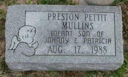 MULLINS, PRESTON PETTIT - Lonoke County, Arkansas   PRESTON PETTIT MULLINS - Arkansas Gravestone Photos