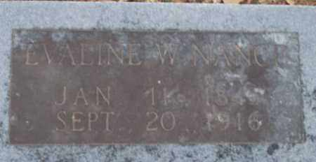 NANCE, EVALINE W - Lonoke County, Arkansas | EVALINE W NANCE - Arkansas Gravestone Photos