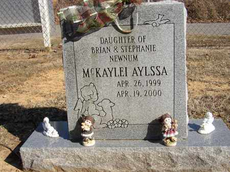 NEWNUM, MCKAYLEI AYLSSA - Lonoke County, Arkansas | MCKAYLEI AYLSSA NEWNUM - Arkansas Gravestone Photos