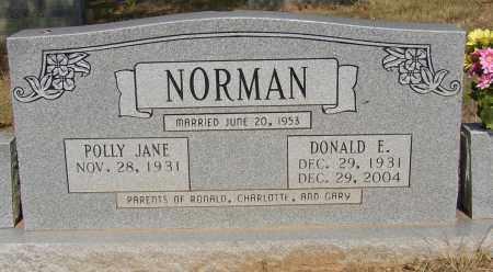NORMAN (VETERAN), DONALD E. - Lonoke County, Arkansas | DONALD E. NORMAN (VETERAN) - Arkansas Gravestone Photos