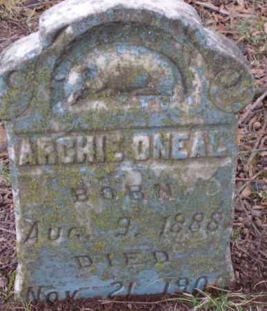 O'NEAL, ARCHIE - Lonoke County, Arkansas | ARCHIE O'NEAL - Arkansas Gravestone Photos