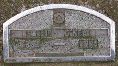 O'NEAL, SALLIE - Lonoke County, Arkansas | SALLIE O'NEAL - Arkansas Gravestone Photos