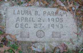 PARHAM, LAURA B - Lonoke County, Arkansas | LAURA B PARHAM - Arkansas Gravestone Photos