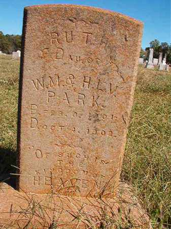 PARK, RUTH - Lonoke County, Arkansas | RUTH PARK - Arkansas Gravestone Photos