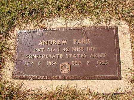 PARK (VETERAN CSA), ANDREW - Lonoke County, Arkansas | ANDREW PARK (VETERAN CSA) - Arkansas Gravestone Photos