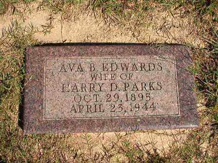 EDWARDS PARKS, AVA B - Lonoke County, Arkansas | AVA B EDWARDS PARKS - Arkansas Gravestone Photos