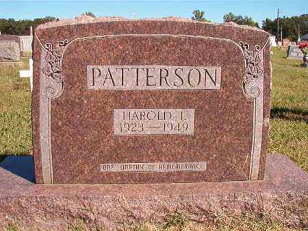 PATTERSON, HAROLD F - Lonoke County, Arkansas | HAROLD F PATTERSON - Arkansas Gravestone Photos