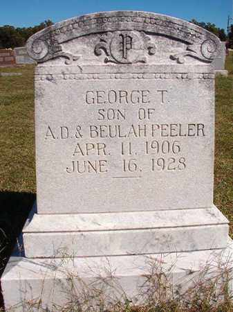 PEELER, GEORGE T - Lonoke County, Arkansas | GEORGE T PEELER - Arkansas Gravestone Photos