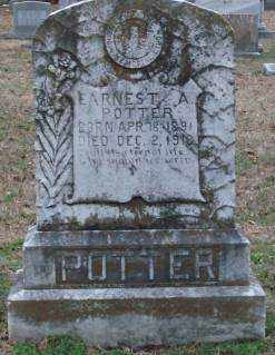 POTTER, EARNEST A - Lonoke County, Arkansas | EARNEST A POTTER - Arkansas Gravestone Photos