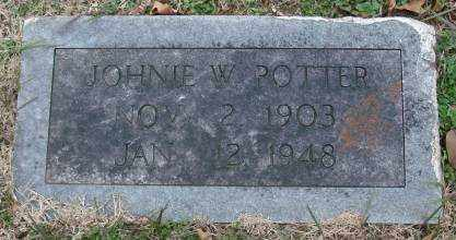 POTTER, JOHNIE W - Lonoke County, Arkansas | JOHNIE W POTTER - Arkansas Gravestone Photos