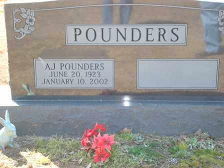 POUNDERS, AJ - Lonoke County, Arkansas | AJ POUNDERS - Arkansas Gravestone Photos