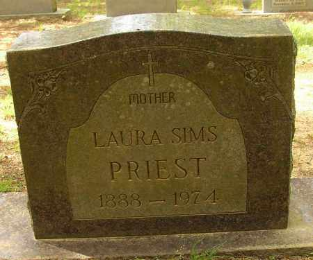 SIMS PRIEST, LAURA - Lonoke County, Arkansas | LAURA SIMS PRIEST - Arkansas Gravestone Photos