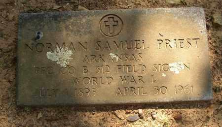 PRIEST (VETERAN WWI), NORMAN SAMUEL - Lonoke County, Arkansas | NORMAN SAMUEL PRIEST (VETERAN WWI) - Arkansas Gravestone Photos