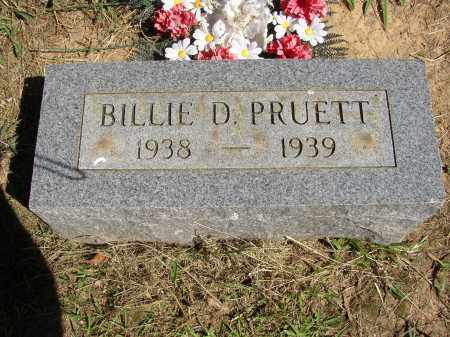 PRUETT, BILLIE D - Lonoke County, Arkansas | BILLIE D PRUETT - Arkansas Gravestone Photos
