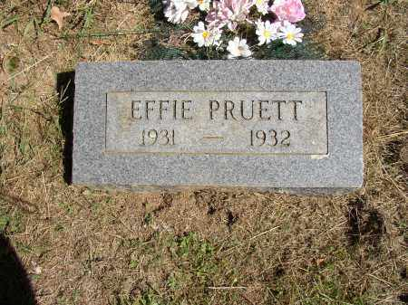 PRUETT, EFFIE - Lonoke County, Arkansas | EFFIE PRUETT - Arkansas Gravestone Photos