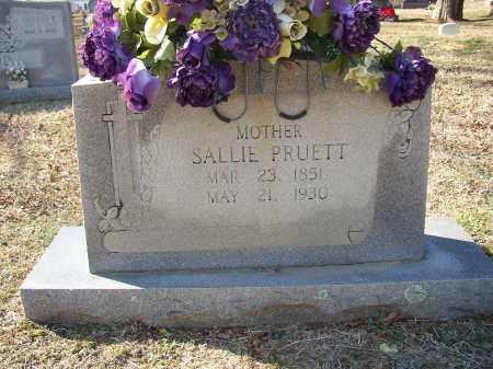 PRUETT, SALLIE - Lonoke County, Arkansas | SALLIE PRUETT - Arkansas Gravestone Photos