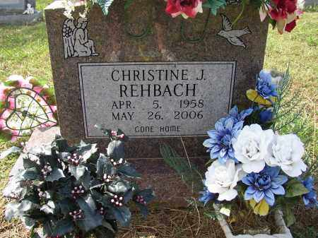 REHBACH, CHRISTINE J. - Lonoke County, Arkansas | CHRISTINE J. REHBACH - Arkansas Gravestone Photos