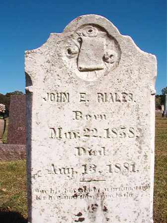 RIALES, JOHN E - Lonoke County, Arkansas | JOHN E RIALES - Arkansas Gravestone Photos