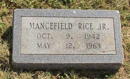 RICE, MANCEFIELD JR. - Lonoke County, Arkansas | MANCEFIELD JR. RICE - Arkansas Gravestone Photos