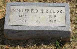 RICE, MANCEFIELD H. SR. - Lonoke County, Arkansas | MANCEFIELD H. SR. RICE - Arkansas Gravestone Photos