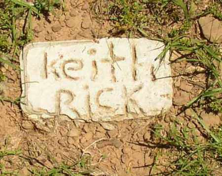 RICK, KEITH - Lonoke County, Arkansas | KEITH RICK - Arkansas Gravestone Photos