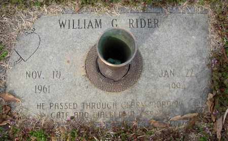 RIDER, WILLIAM G. - Lonoke County, Arkansas | WILLIAM G. RIDER - Arkansas Gravestone Photos