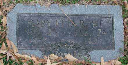 ROWE, MARY ETTA - Lonoke County, Arkansas | MARY ETTA ROWE - Arkansas Gravestone Photos