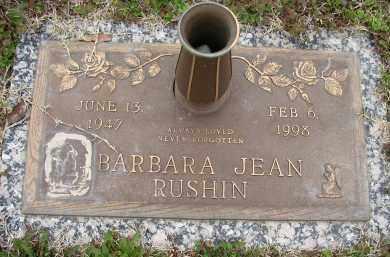 RUSHIN, BARBARA JEAN - Lonoke County, Arkansas | BARBARA JEAN RUSHIN - Arkansas Gravestone Photos