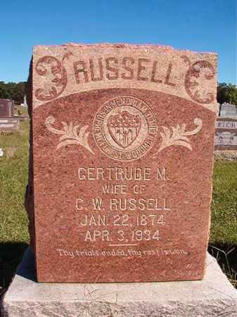 RUSSELL, GERTRUDE M - Lonoke County, Arkansas | GERTRUDE M RUSSELL - Arkansas Gravestone Photos