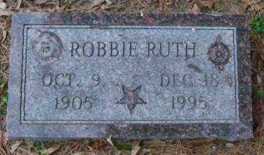 RUTH, ROBBIE - Lonoke County, Arkansas | ROBBIE RUTH - Arkansas Gravestone Photos