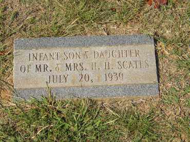 SCATES, INFANT SON AND DAUGHTER - Lonoke County, Arkansas | INFANT SON AND DAUGHTER SCATES - Arkansas Gravestone Photos