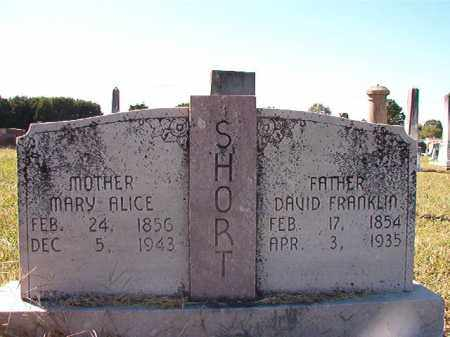 SHORT, DAVID FRANKLIN - Lonoke County, Arkansas | DAVID FRANKLIN SHORT - Arkansas Gravestone Photos