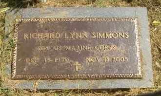 SIMMONS  (VETERAN), RICHARD LYNN - Lonoke County, Arkansas | RICHARD LYNN SIMMONS  (VETERAN) - Arkansas Gravestone Photos