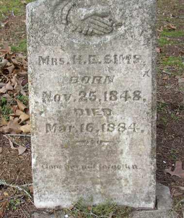 SIMS, MRS. H. E. - Lonoke County, Arkansas | MRS. H. E. SIMS - Arkansas Gravestone Photos