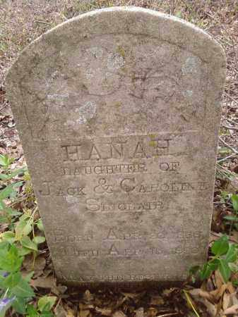 SINCLAIR, HANAH - Lonoke County, Arkansas | HANAH SINCLAIR - Arkansas Gravestone Photos
