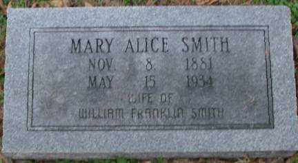 SMITH, MARY ALICE - Lonoke County, Arkansas | MARY ALICE SMITH - Arkansas Gravestone Photos