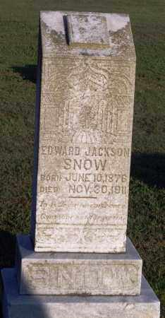 SNOW, EDWARD JACKSON - Lonoke County, Arkansas | EDWARD JACKSON SNOW - Arkansas Gravestone Photos