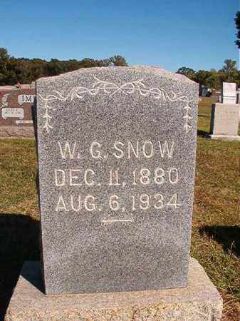 SNOW, W G - Lonoke County, Arkansas | W G SNOW - Arkansas Gravestone Photos