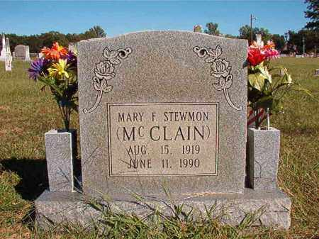 MCCLAIN STEWMON, MARY F - Lonoke County, Arkansas | MARY F MCCLAIN STEWMON - Arkansas Gravestone Photos