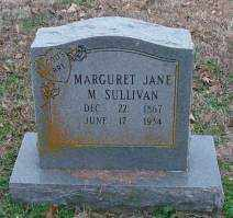SULLIVAN, MARGURET JANE M - Lonoke County, Arkansas | MARGURET JANE M SULLIVAN - Arkansas Gravestone Photos