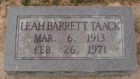TAACK, LEAH - Lonoke County, Arkansas | LEAH TAACK - Arkansas Gravestone Photos