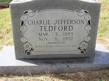TEDFORD, CHARLIE JEFFERSON - Lonoke County, Arkansas | CHARLIE JEFFERSON TEDFORD - Arkansas Gravestone Photos