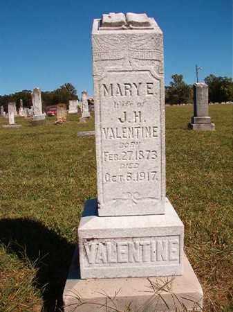 VALENTINE, MARY E - Lonoke County, Arkansas   MARY E VALENTINE - Arkansas Gravestone Photos