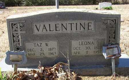 VALENTINE, TAZ W. - Lonoke County, Arkansas | TAZ W. VALENTINE - Arkansas Gravestone Photos