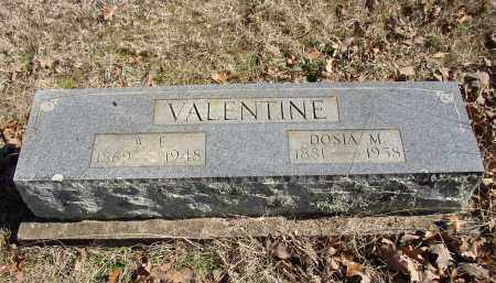 VALENTINE, W. F. - Lonoke County, Arkansas | W. F. VALENTINE - Arkansas Gravestone Photos
