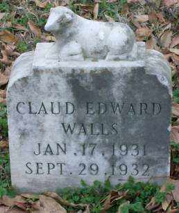 WALLS, CLAUD EDWARD - Lonoke County, Arkansas | CLAUD EDWARD WALLS - Arkansas Gravestone Photos